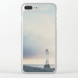 the lights will guide you home ... lighthouse photograph Clear iPhone Case
