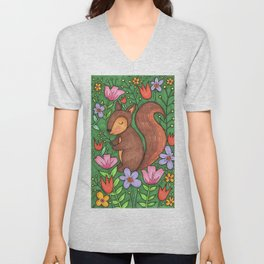 Spring Squirrel Unisex V-Neck