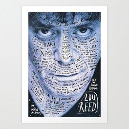 Lou Reed Poster Art Print