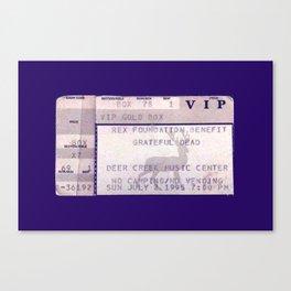The Dead VIP Ticket Canvas Print