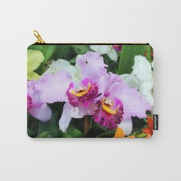 White and Pink Orchids Carry-All Pouch