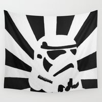 stormtrooper Wall Tapestries featuring StormTrooper by Shelly Lukas Art