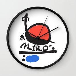 Joan Miró - L oiseau Solaire 1983 - Artwork for Prints Posters Tshirts Bags Women Men Kids Wall Clock