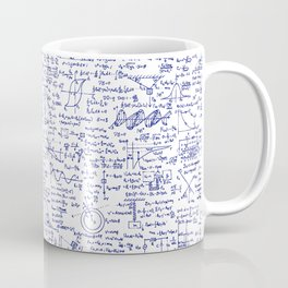 Physics Equations in Blue Pen Coffee Mug