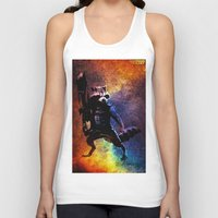 rocket raccoon Tank Tops featuring Guardians of the Galaxy series: Rocket Raccoon  by Steal This Art