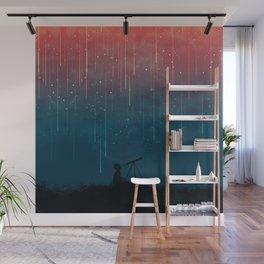 Meteor rain Wall Mural
