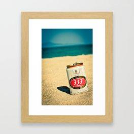 Beach and Beer Framed Art Print