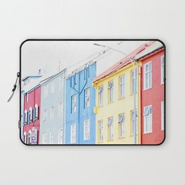 Colorful Reykjavik Homes Laptop Sleeve