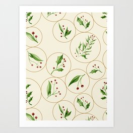 Berries Baubles #society6 #xmas Art Print