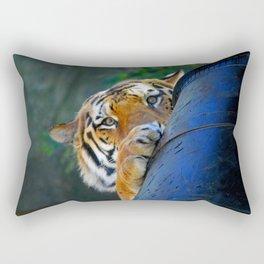 Playful Amur Tiger Rectangular Pillow