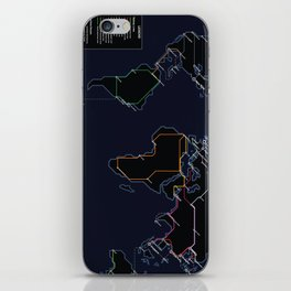 Rail Map of the World (Night) iPhone Skin