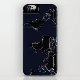 Rail Map of the World (Night) iPhone Skin