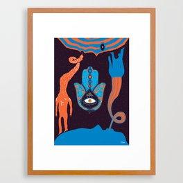 Two Sides Of Me Framed Art Print