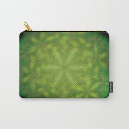 Fractal Green Flowers Carry-All Pouch