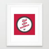 hiphop Framed Art Prints featuring HIPHOP ANTHEM : From Pens To Pads To Technics by Lbert