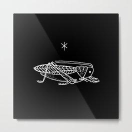 Cricket Tattoo / Black & White Metal Print