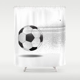Moving Football Shower Curtain