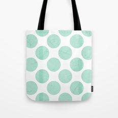 Mint Polka Dot Tote Bag