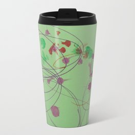 Green Dots and Swirls Travel Mug