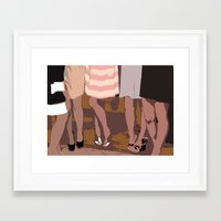 legs Framed Art Prints featuring legs by yayanastasia