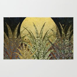 """Golden aloe Zebra midnight sun"" Rug"