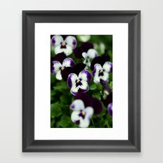 Flower Faces Framed Art Print