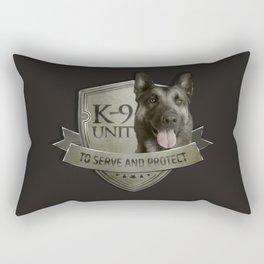 K9 Unit  - Malinois Belgian shepherd -Mechelaar Rectangular Pillow