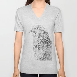 she's a beauty drawing Unisex V-Neck