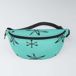 Atomic Era Space Age Turquoise Fanny Pack
