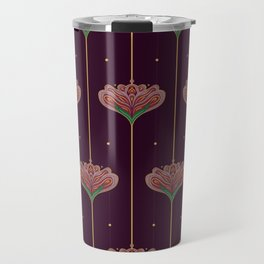 Wallpaper Floral Pattern In Style OF William Morris Travel Mug