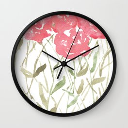 A Bunch Of Red Roses Wall Clock