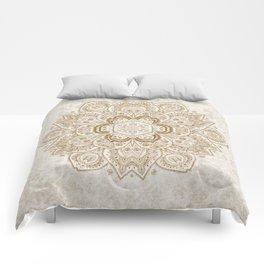 Mandala Temptation in Cream Comforters