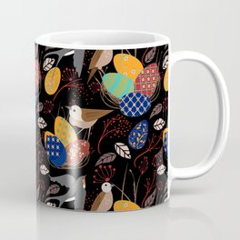 Nest of Pysanky Easter Eggs Nightingales and Swallows Coffee Mug
