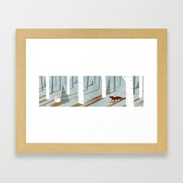 Rabbit hunt 2 Framed Art Print