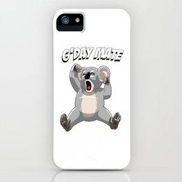 Sleepy Koala Bear G'day Mate - Cute Australian Koalas Gift iPhone Case
