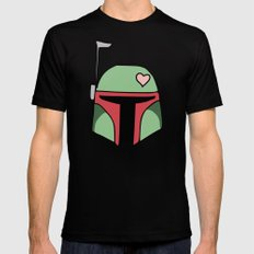 Boba Fett Valentine MEDIUM Mens Fitted Tee Black