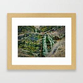 HDR Falls Framed Art Print