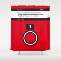 kafka Shower Curtains featuring No013 MY The Trial Book Icon poster by Chungkong