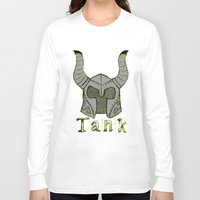 skyrim Long Sleeve T-shirts featuring Tank by Mallow