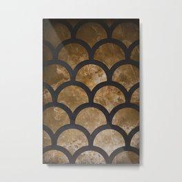 Scallops in Gold Metal Print