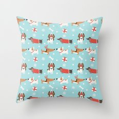 A dog's Christmas Throw Pillow
