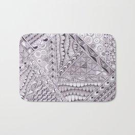Zentangle Inspired Art (ZIA) in grey tones/ Monochrome Bath Mat