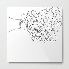 unravelling Metal Print