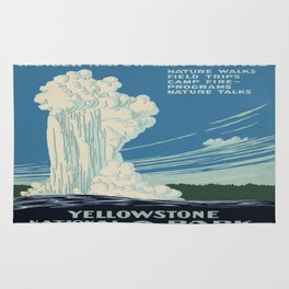 Vintage poster - Yellowstone Rug