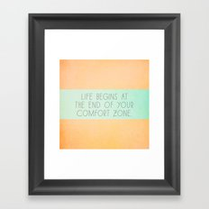 Life begins Framed Art Print