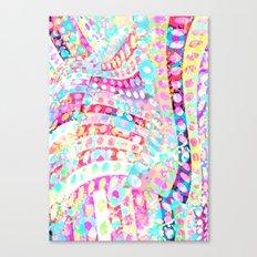 Polka-dots Meet The Flowers  Canvas Print