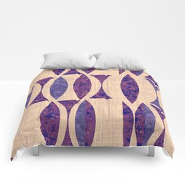 Seventies violet Pattern Comforters