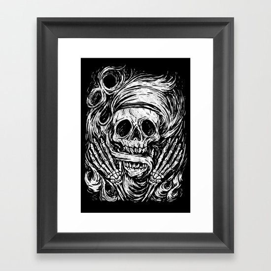 flowing ashes Framed Art Print