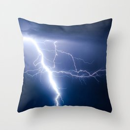 Lightning Strike Throw Pillow