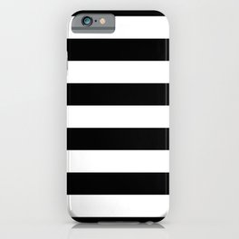Abstract Black and White Stripe Lines 6 iPhone Case